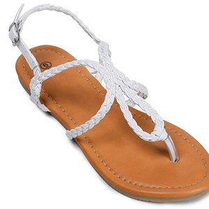 Sandals Braided Strap Tong Sandal for Women